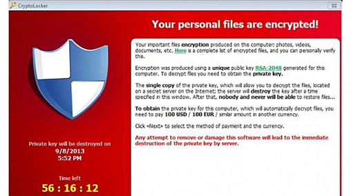 image showing what a ransom attack may look like